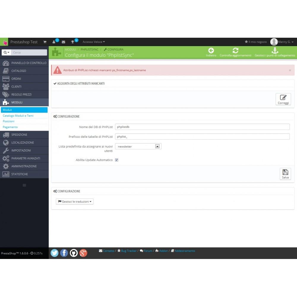 module - Newsletter & SMS - PHPListSync - 3