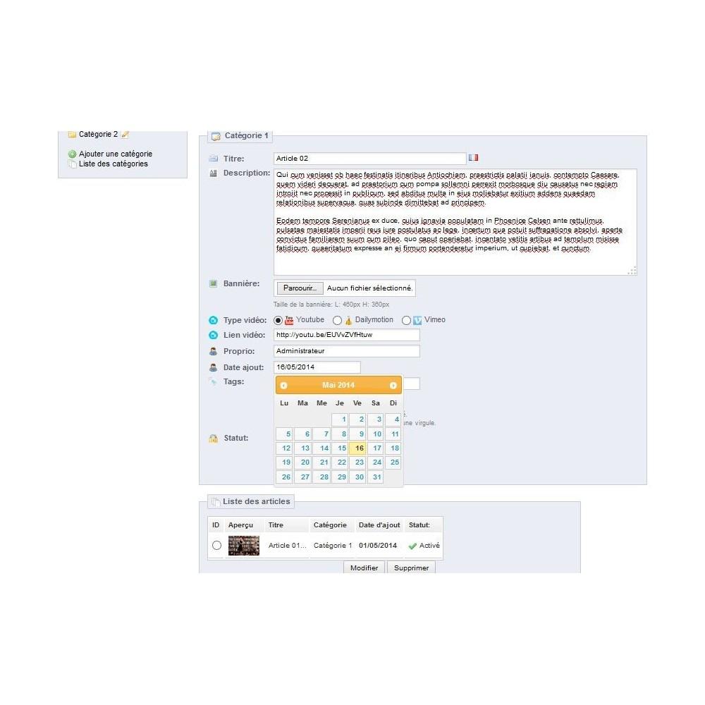module - Blog, Forum & Actualités - Blog Article & Vidéo pour Prestashop - 3
