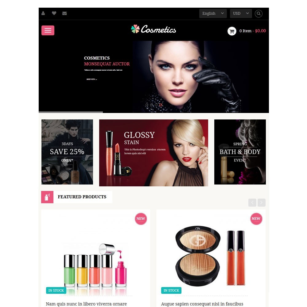 theme - Health & Beauty - Leo Cosmetics - 3