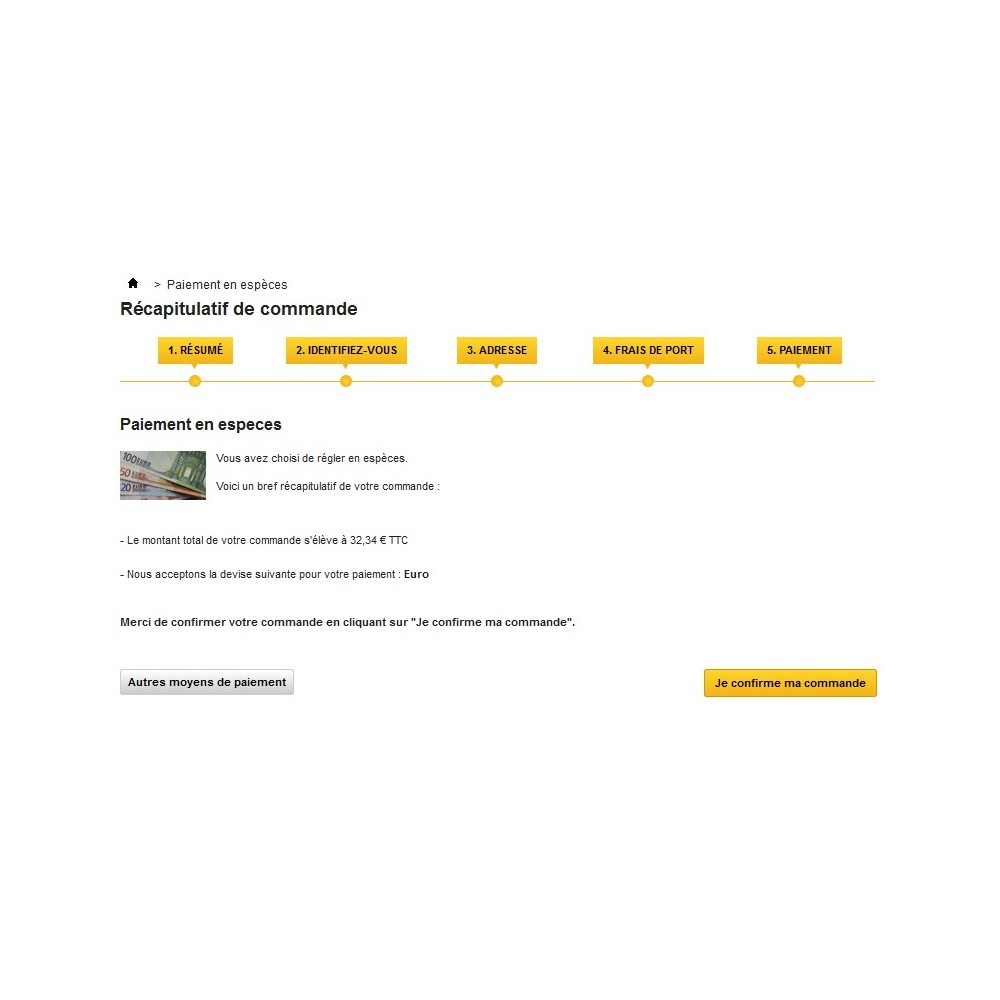 module - Pago en Tienda física (TPV físico) - Cash Payment / Paiement Espèces - 5