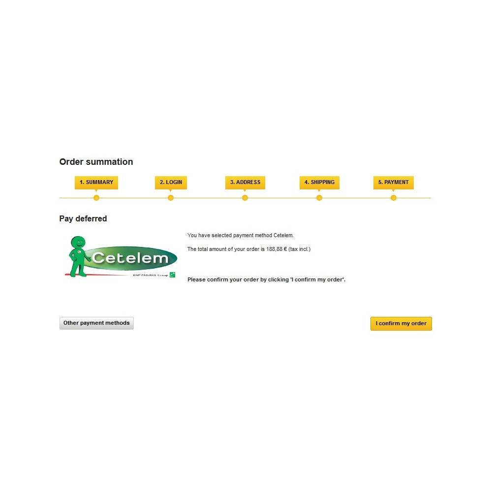 module - Pagos - Cetelem - pagos aplazados - 3