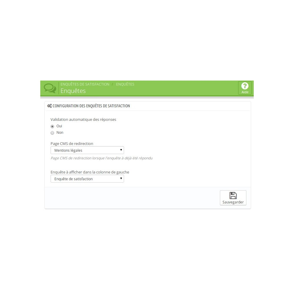 module - Formulaires de Contact & Sondages - Enquête de Satisfaction - 5