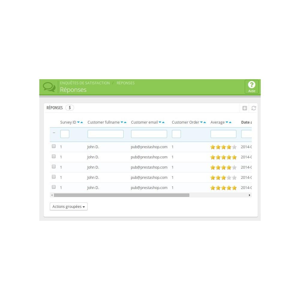 module - Formulaires de Contact & Sondages - Enquête de Satisfaction - 8