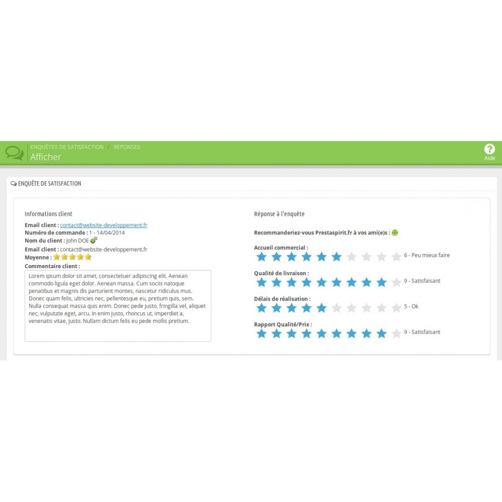 module - Formulaires de Contact & Sondages - Enquête de Satisfaction - 9