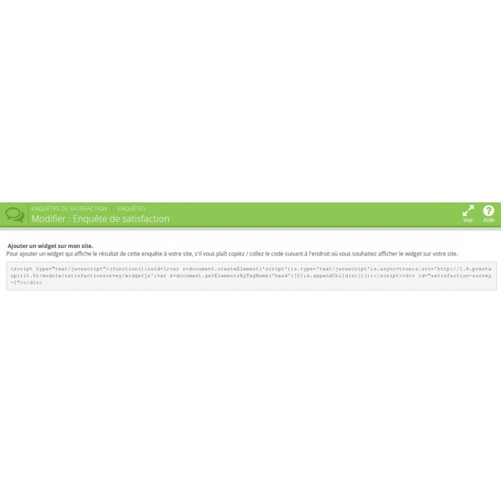 module - Formulaires de Contact & Sondages - Enquête de Satisfaction - 12