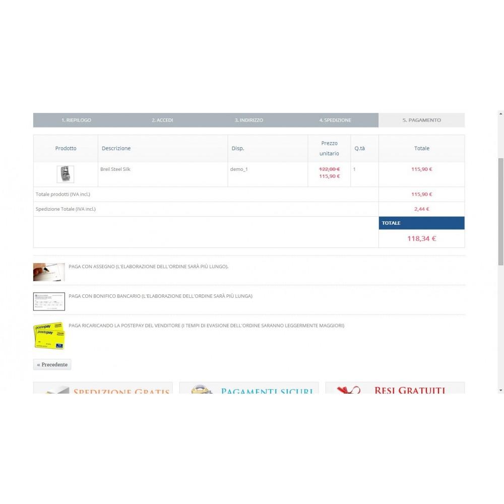 module - Pagamento Anticipato - Modulo Postepay Prestashop 1.5 / 1.6 con CF - 8