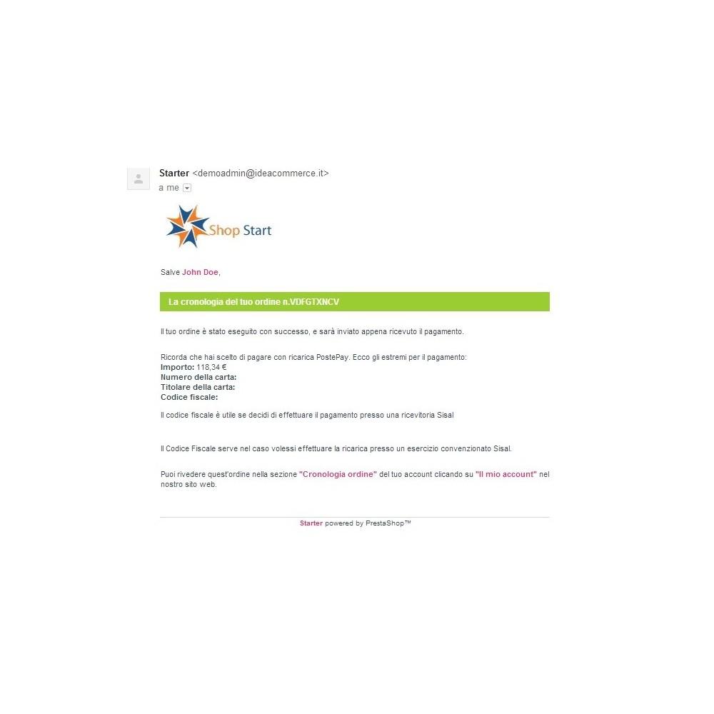 module - Pagamento Anticipato - Modulo Postepay Prestashop 1.5 / 1.6 con CF - 10