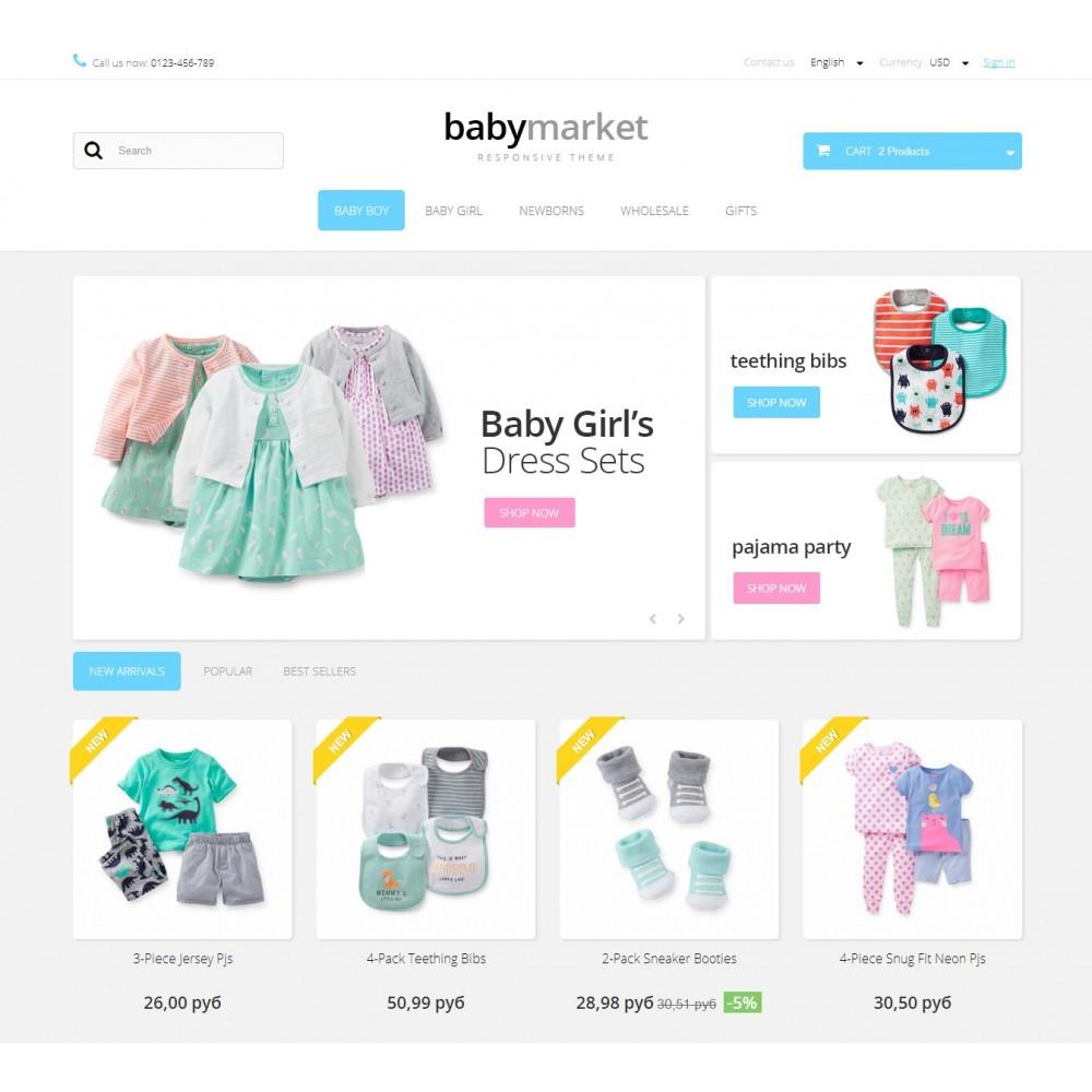 theme - Crianças & Brinquedos - Baby Market 1.6 Responsive - 2
