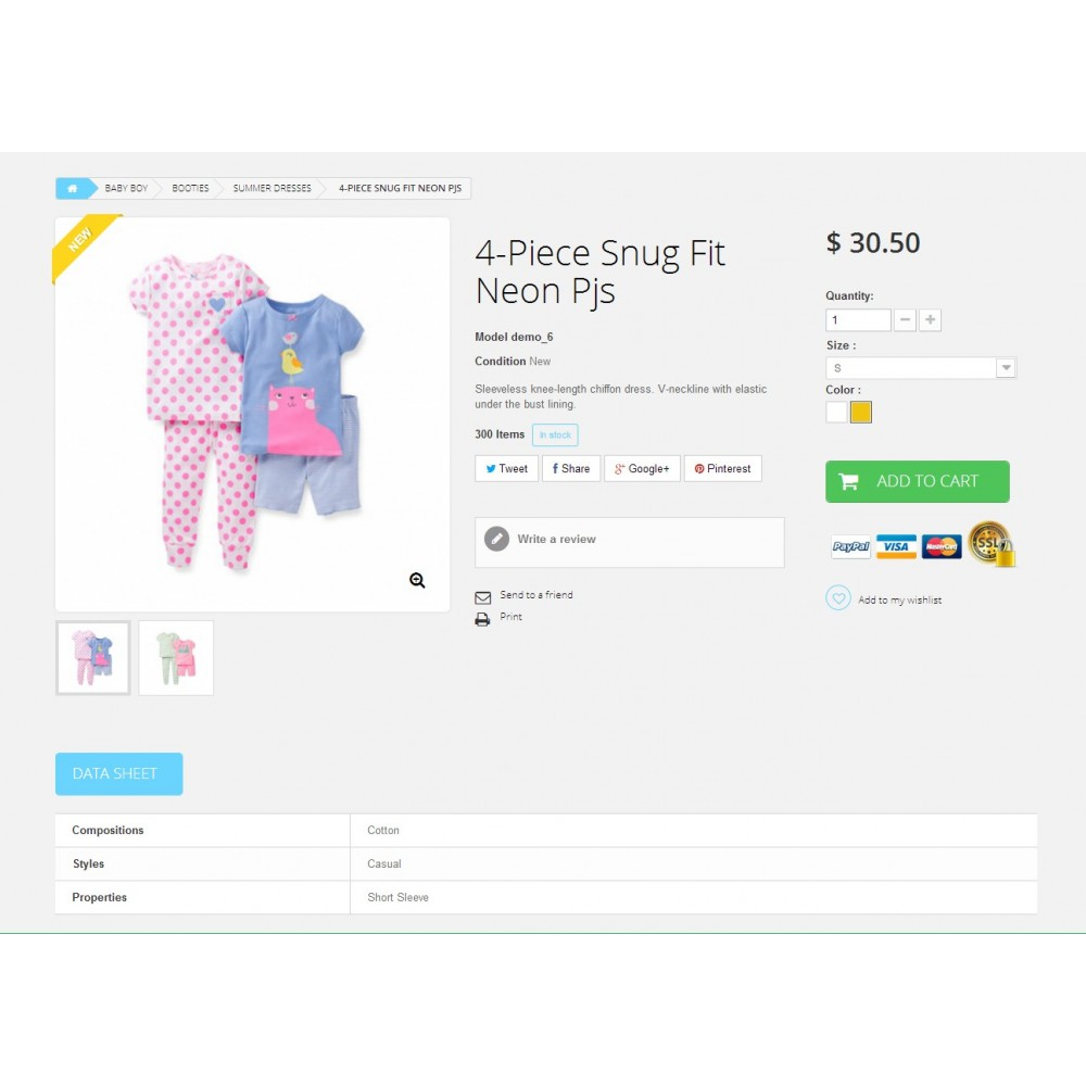 theme - Crianças & Brinquedos - Baby Market 1.6 Responsive - 5