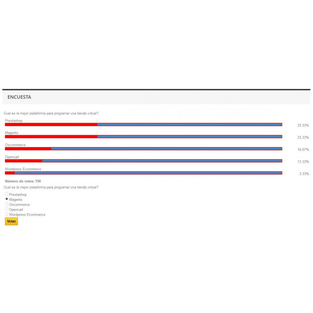 module - Formulario de contacto y Sondeos - Block Polls - Encuestas para Prestashop - 2