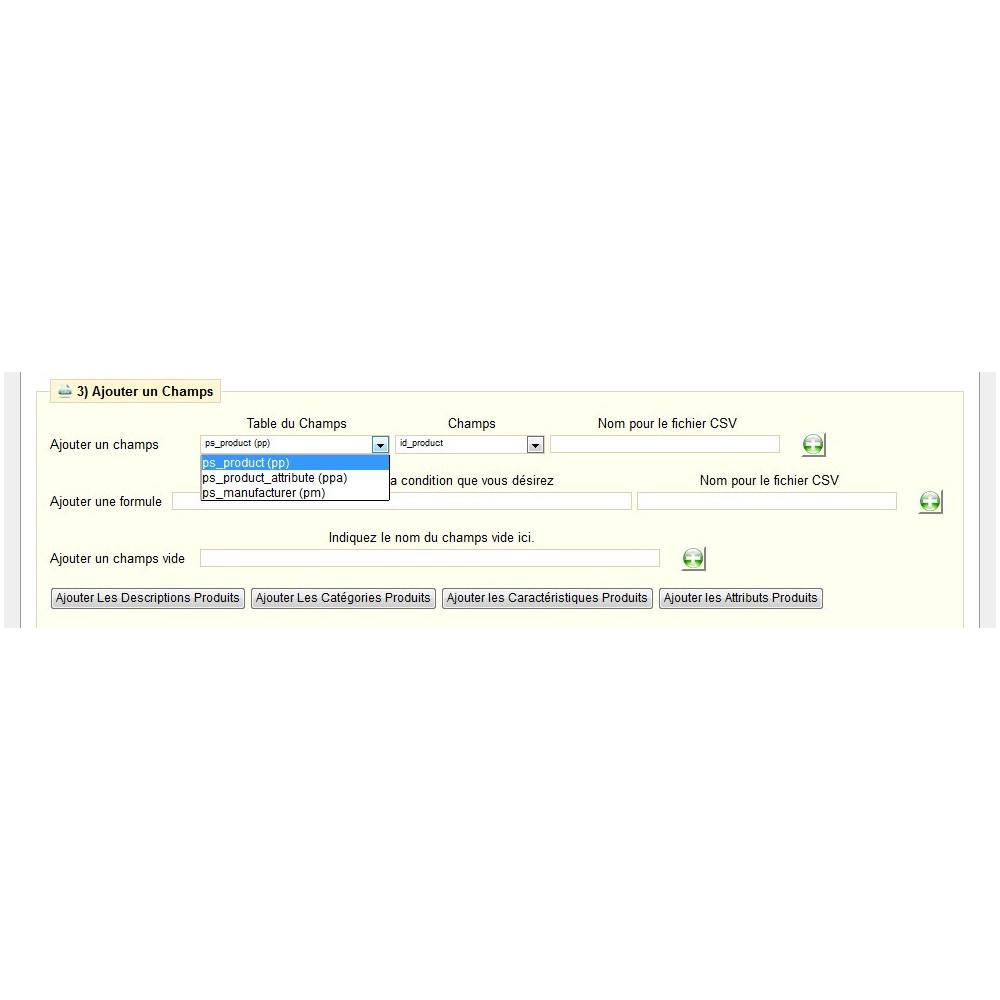 module - Import & Export de données - EXPORT CATALOGUE AU FORMAT CSV - CSVLS2 - 13