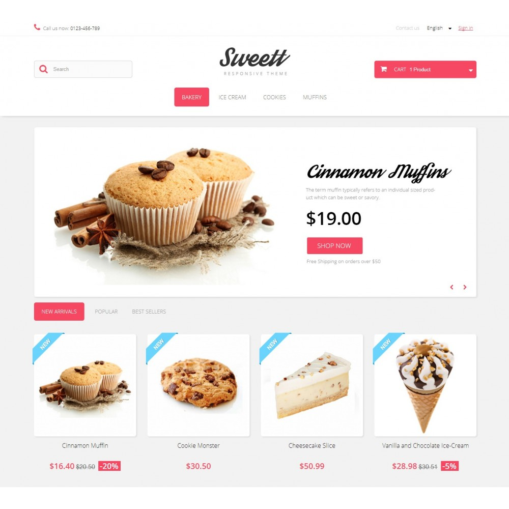 theme - Lebensmittel & Restaurants - Sweett 1.6 Responsive - 2