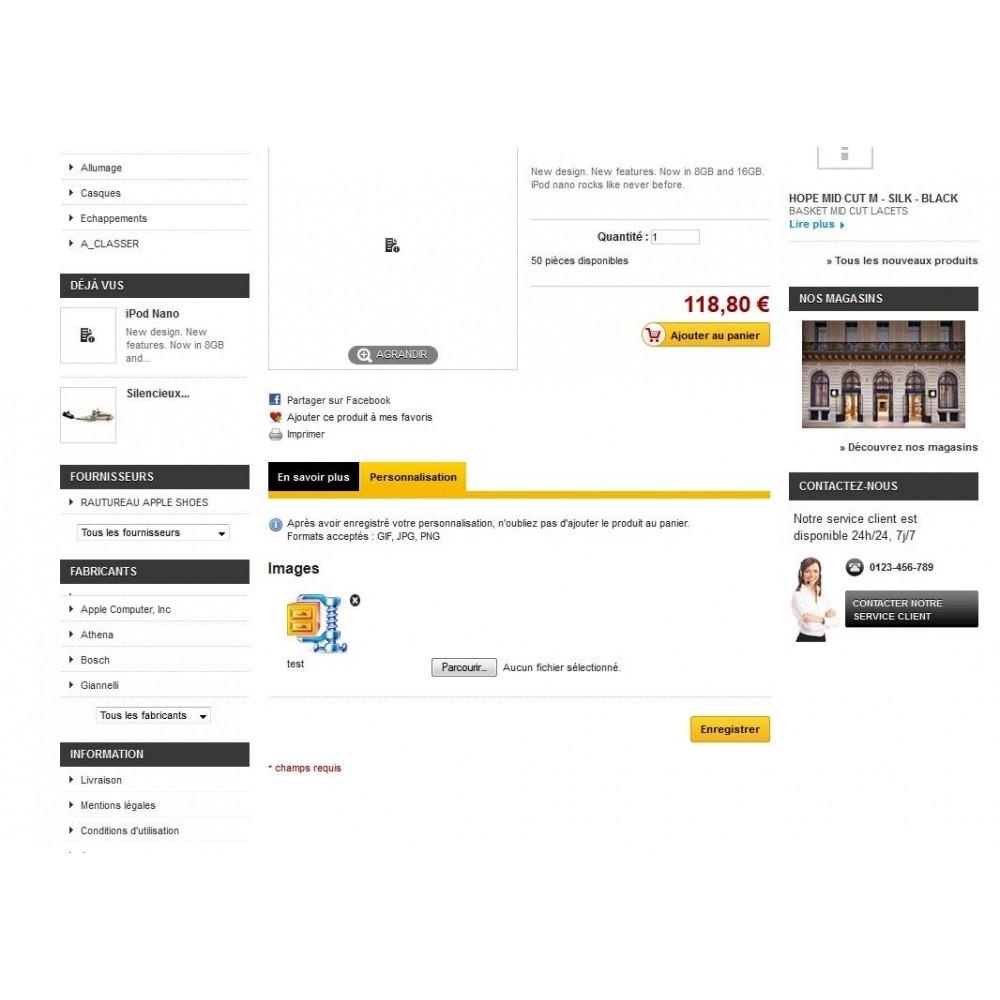 module - Déclinaisons & Personnalisation de produits - Upload pdf et zip sur les pages produits - 2