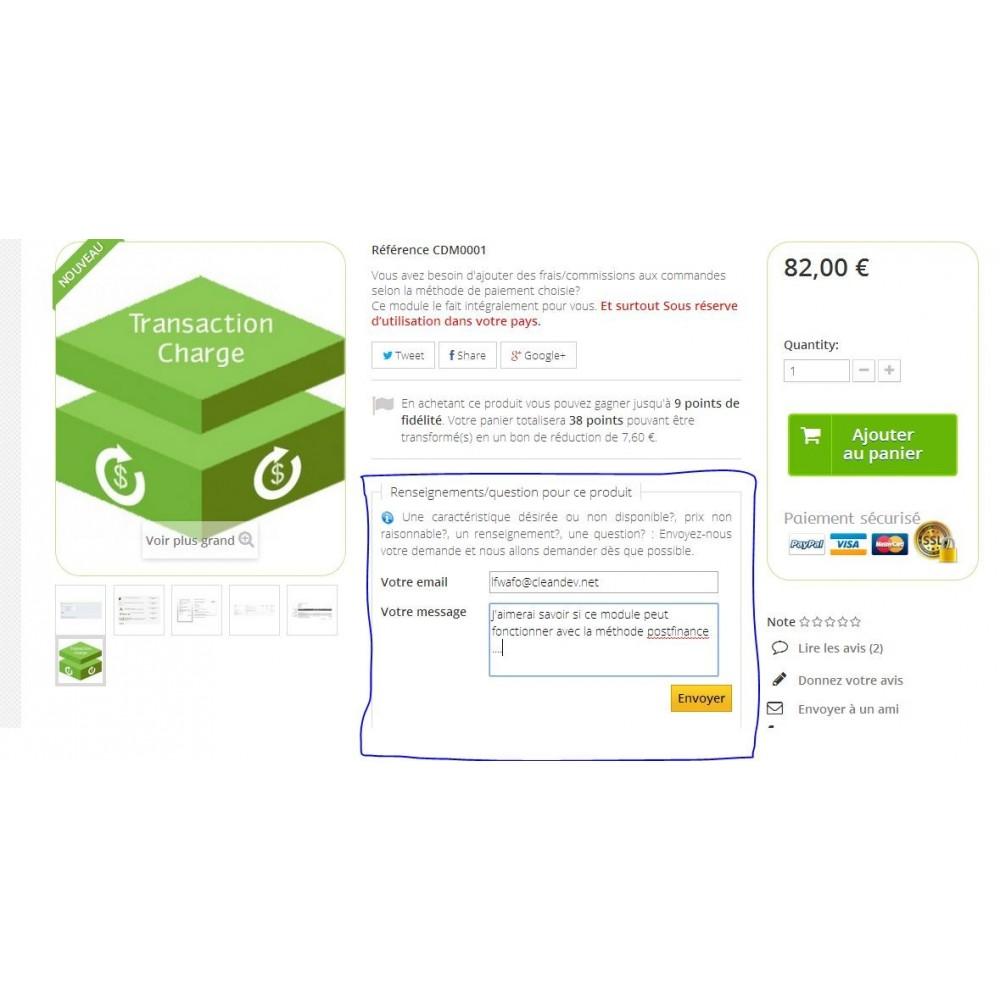 module - Formulaires de Contact & Sondages - Renseignements, questions, devis sur un produit - 9