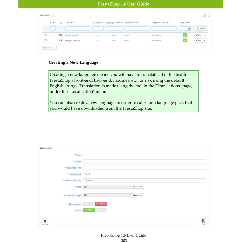 other - Guida dell'utente - PrestaShop 1.6 User Guide - 2