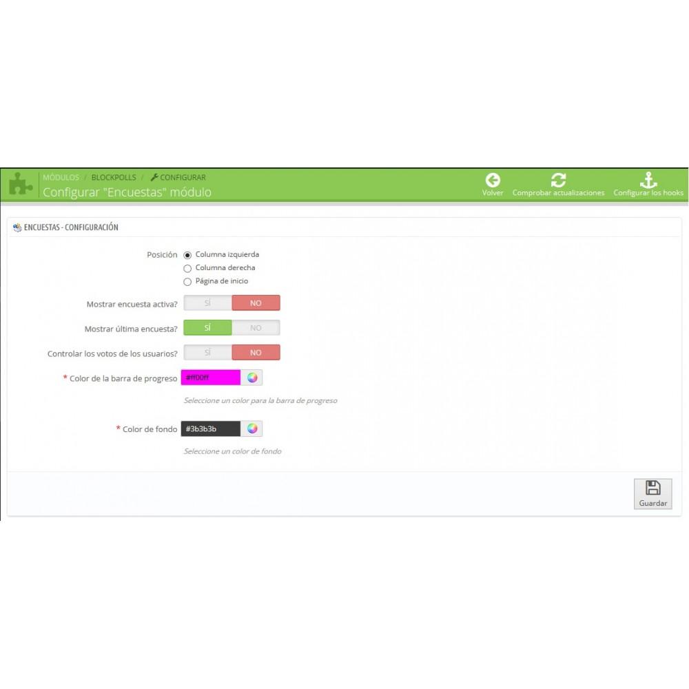 module - Formulario de contacto y Sondeos - Block Polls - Encuestas para Prestashop - 4
