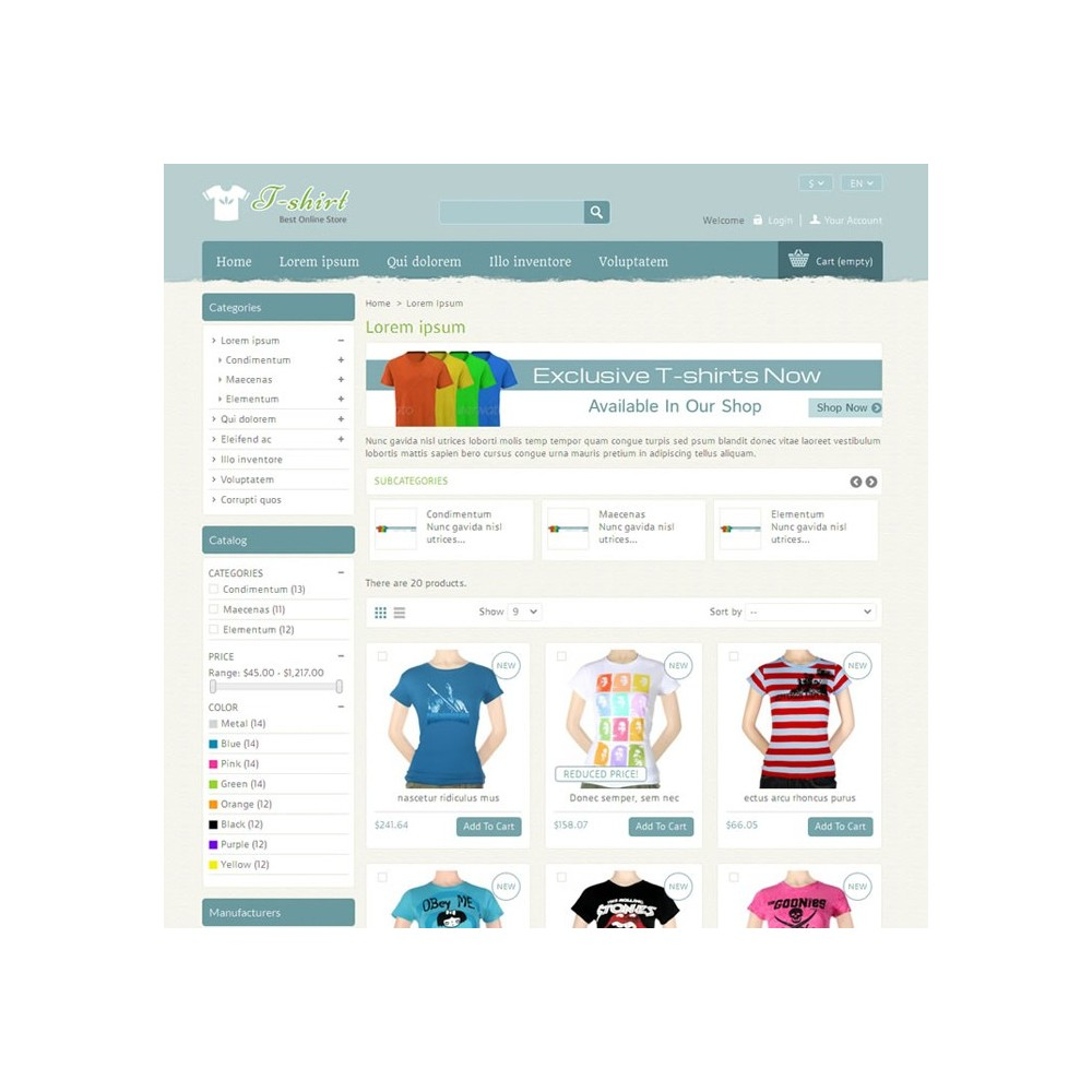 theme - Mode & Schuhe - T-shirt Prestashop Theme - PRS040081 - 3