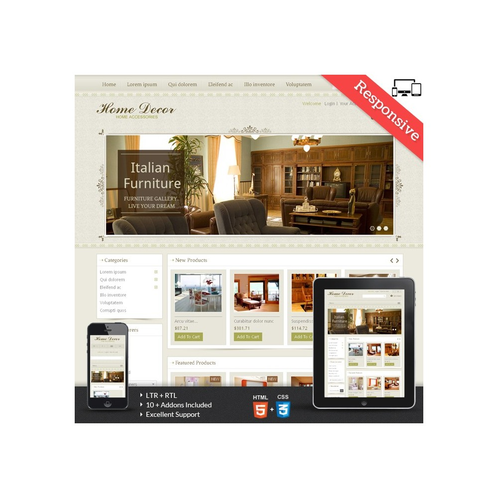 Home Decor Prestashop Theme - PRS030062