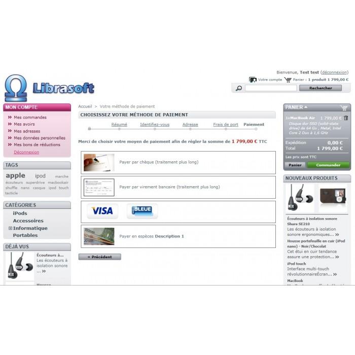 module - Zahlung am POS - Cash Payment / Paiement Espèces - 6