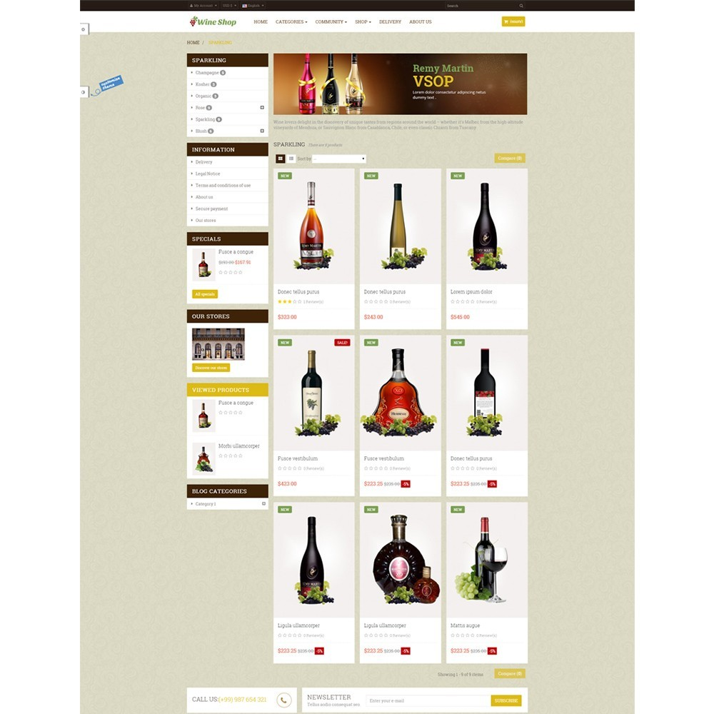 theme - Drink & Wine - Leo Wine Store - 3