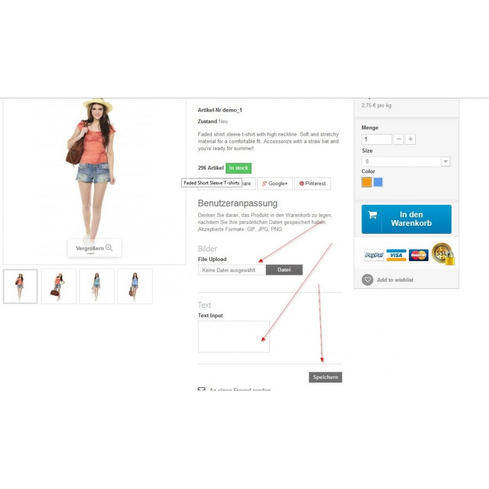 module - Altre informazioni & Product Tab - Move Customization Fields to the Top - 1
