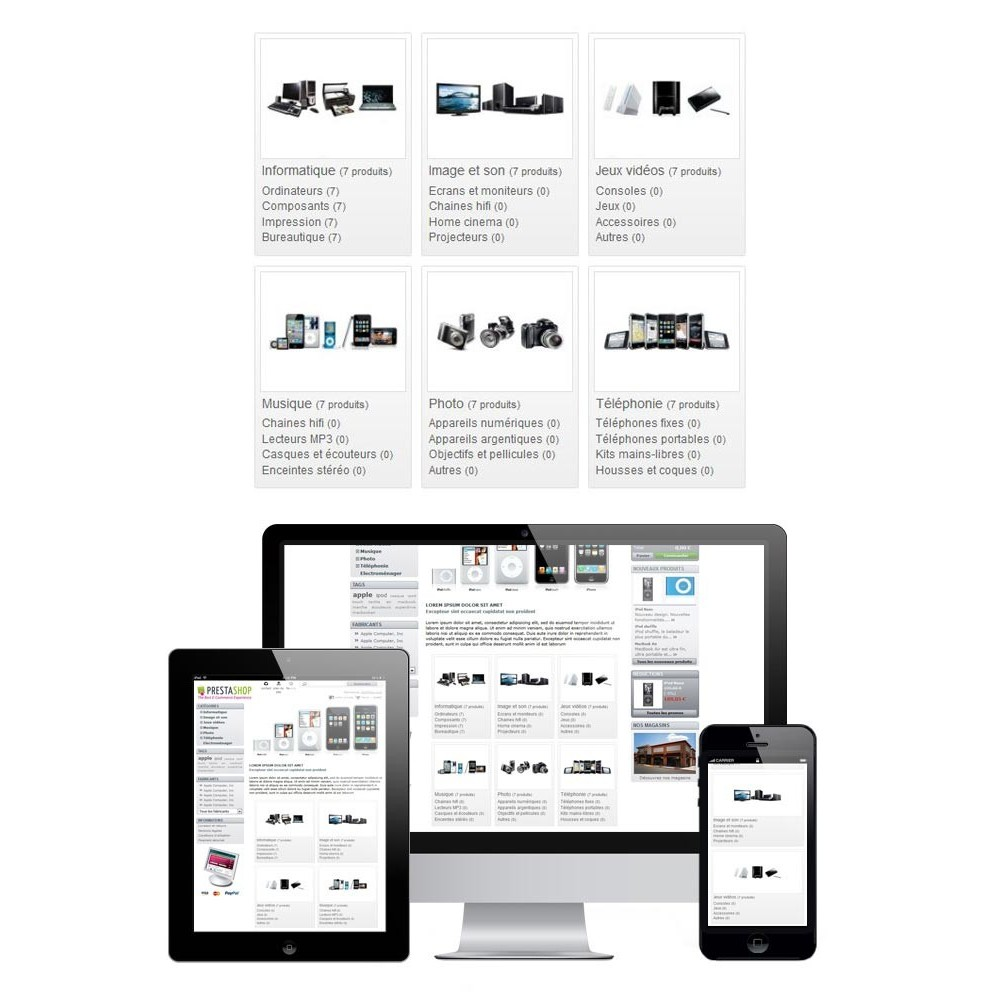 module - Front office features - Responsive Homepage Categories - 1