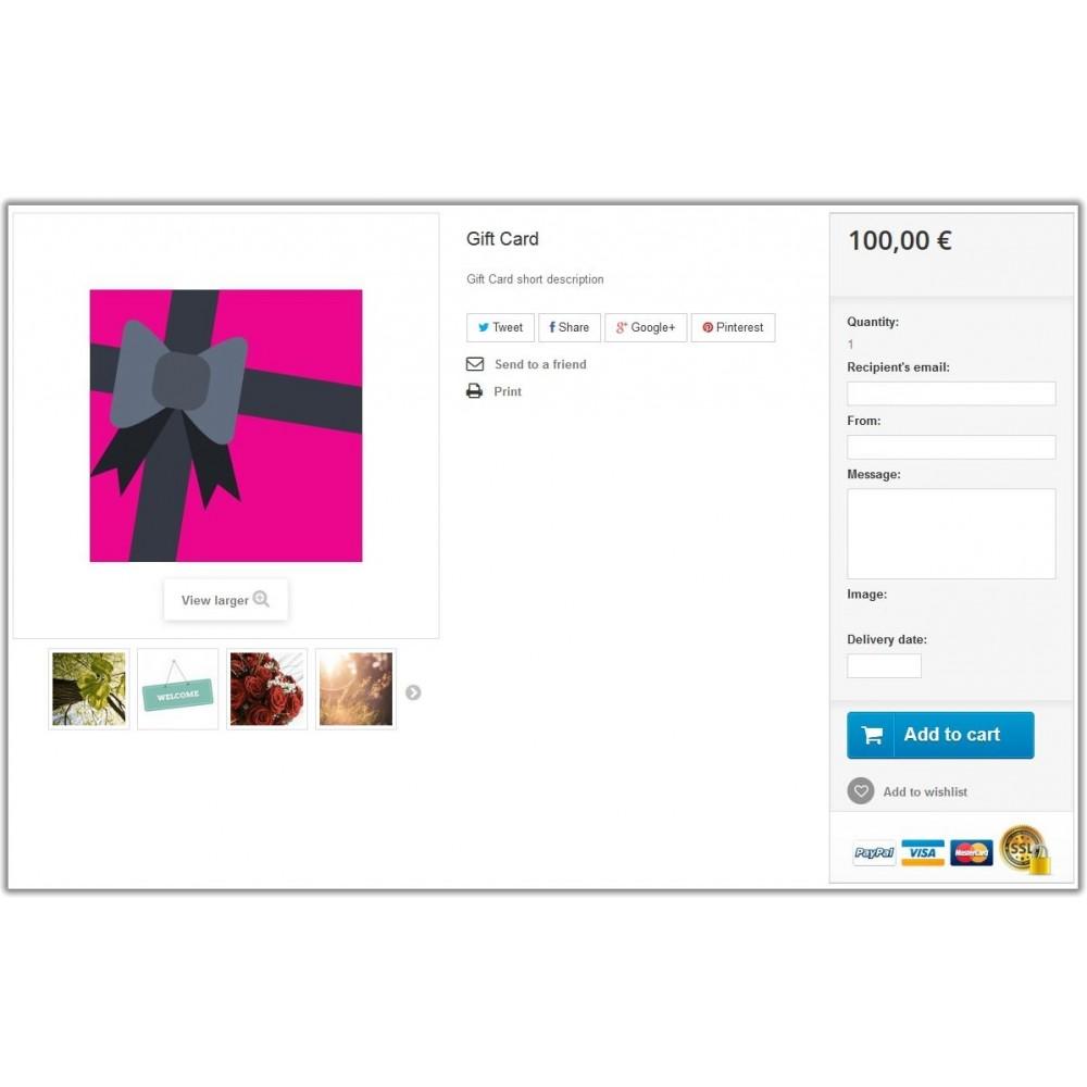 module - Список желаний и Подарочный купон - Gift Card  1.6 - 2