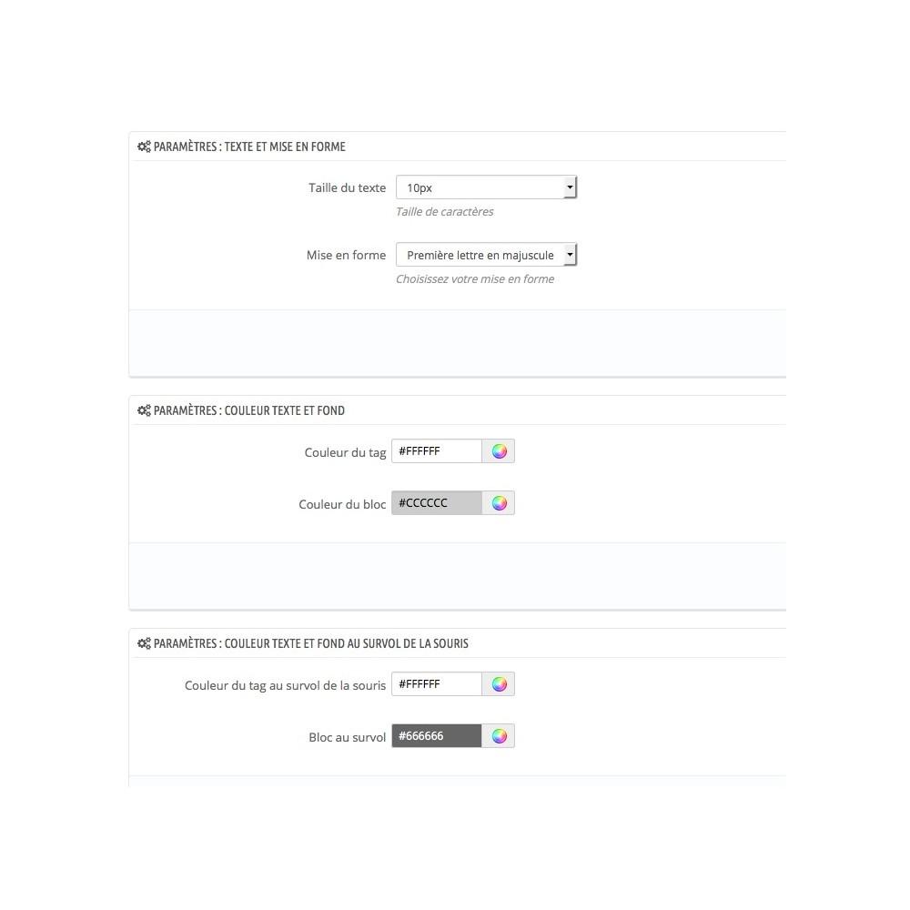 module - SEO (référencement naturel) - Générer, afficher et personnaliser les tags / ArtiTags - 6