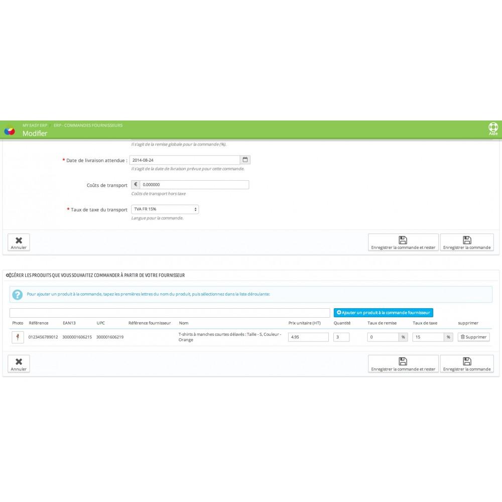 module - Connexion à un logiciel tiers (CRM, ERP...) - My Easy ERP - 40