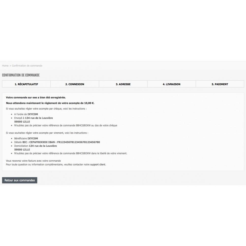 module - Paiement par Facture - Payer par facture avec ou sans acompte - 4
