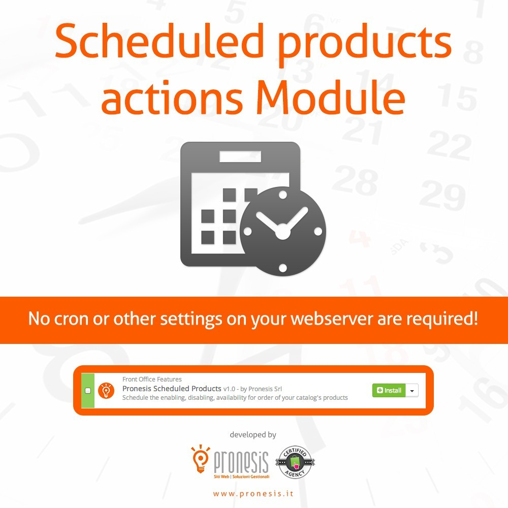 module - Outils d'administration - Scheduled Products Publishing Actions - 1