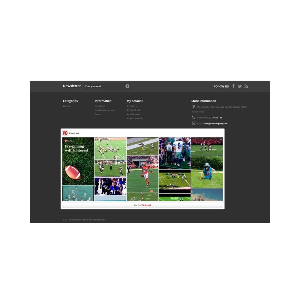 module - Виджеты для социальных сетей - Pinterest Board - 2