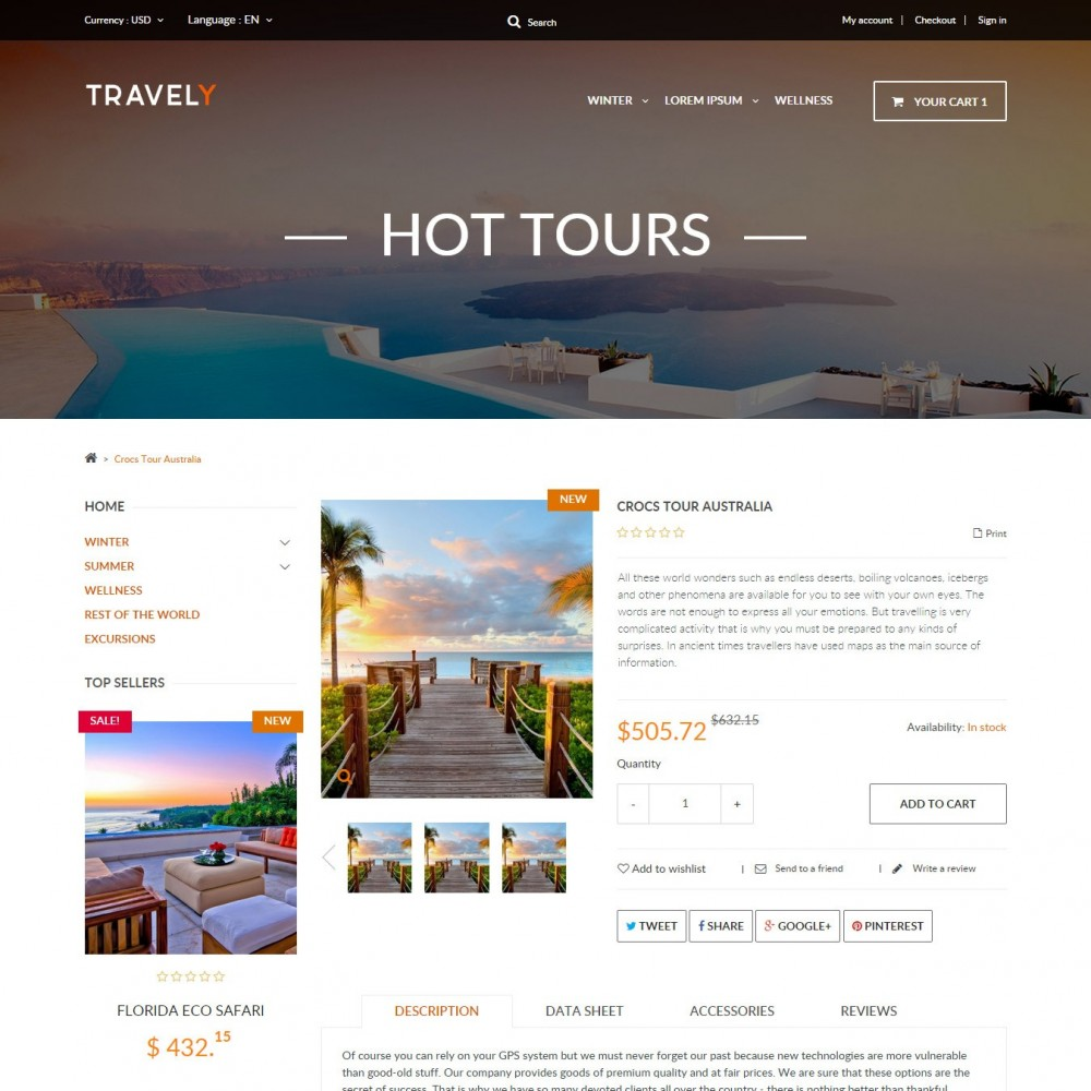 Travely - Travel Shop