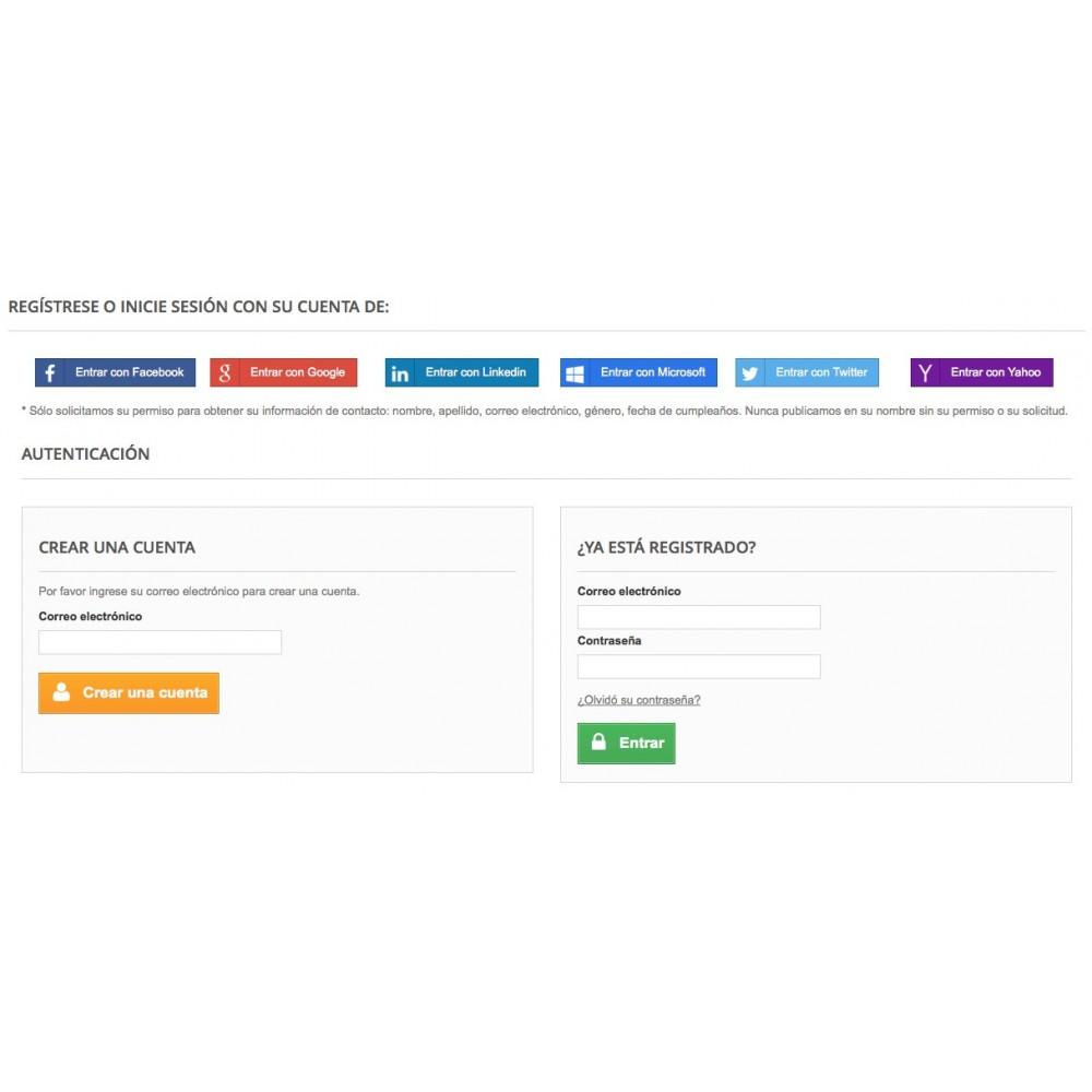 module - Botones de inicio de Sesión/Conexión - Conéctese con redes sociales - 3