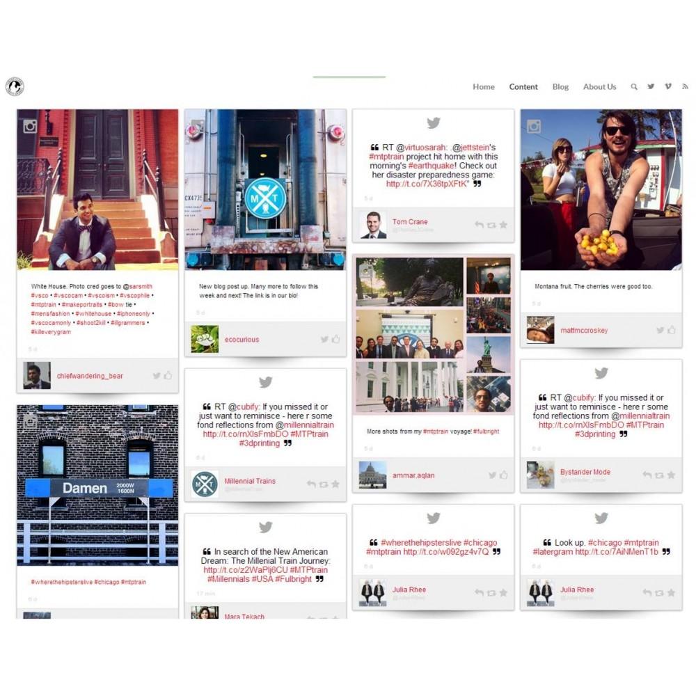 module - Widgets réseaux sociaux - Dialogfeed, affichez un social wall sur votre site - 1