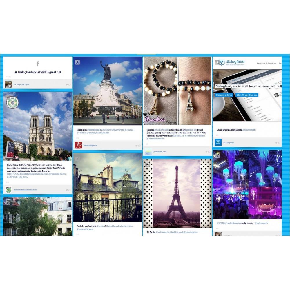 module - Widgets réseaux sociaux - Dialogfeed, affichez un social wall sur votre site - 2