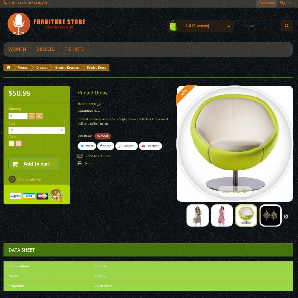 RESPONSIVE FURNITURE-STORE THEME