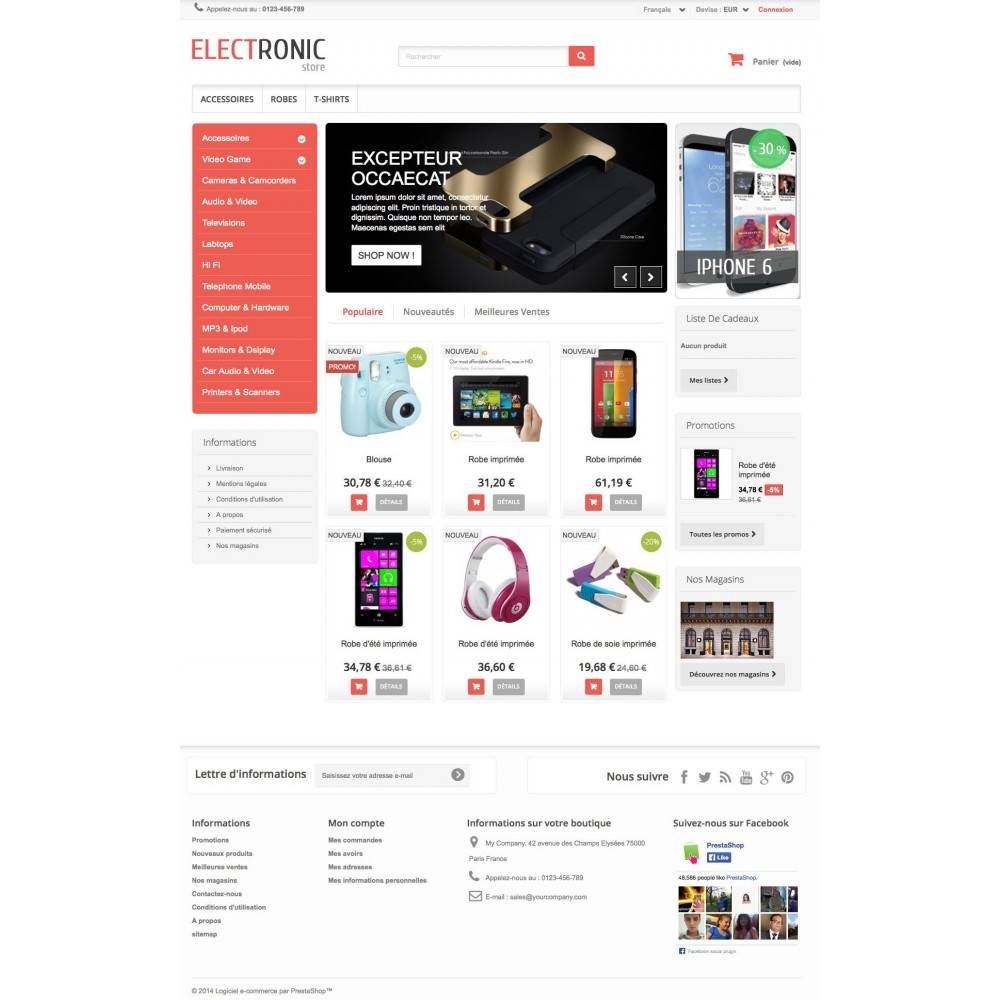 theme - Electronique & High Tech - ELECTROSHOP - 5