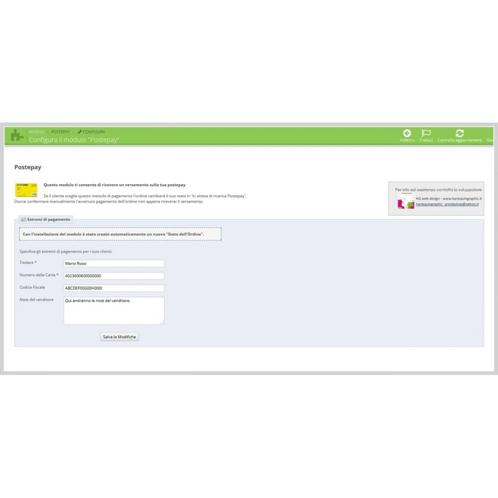 module - Zahlung per Vorkasse - Postepay - 3