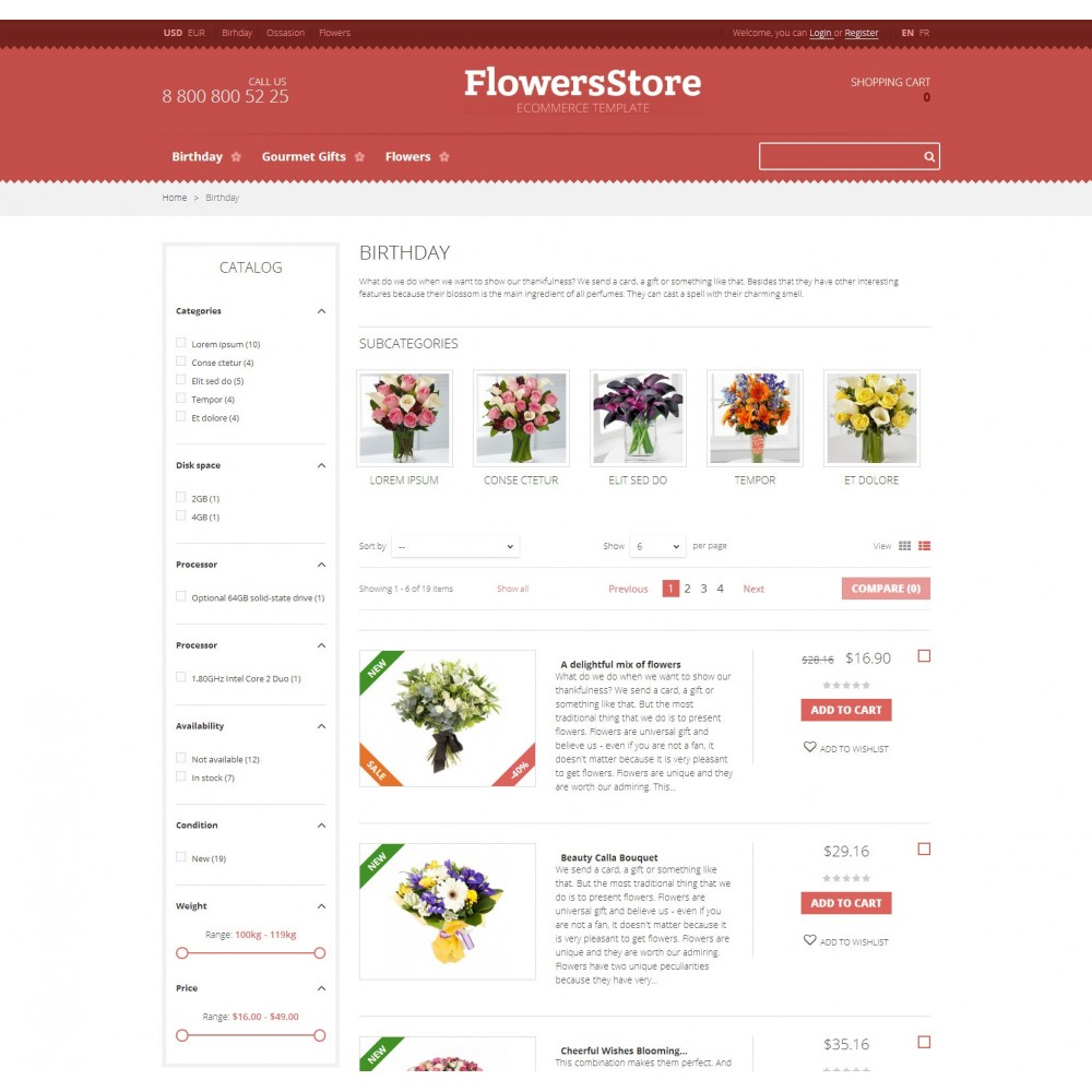 Floweris - Flowers Shop