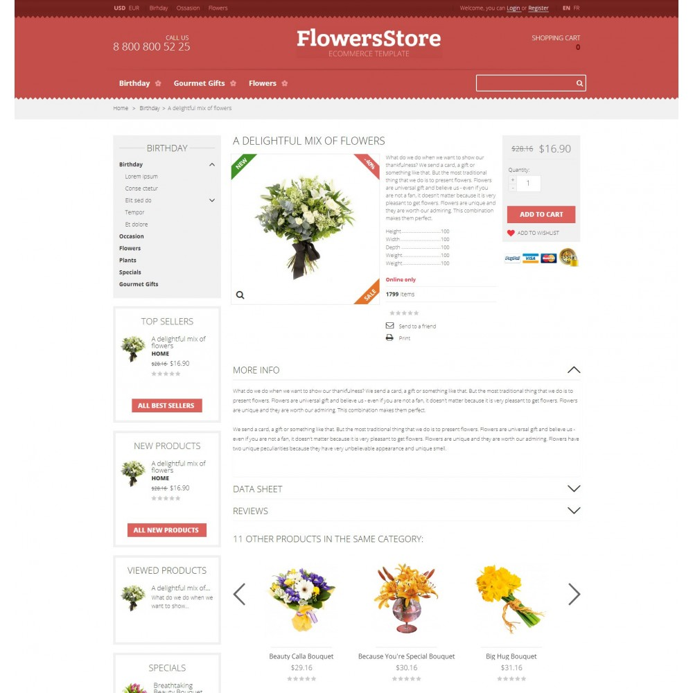 theme - Gifts, Flowers & Celebrations - Floweris - Flowers Shop - 3