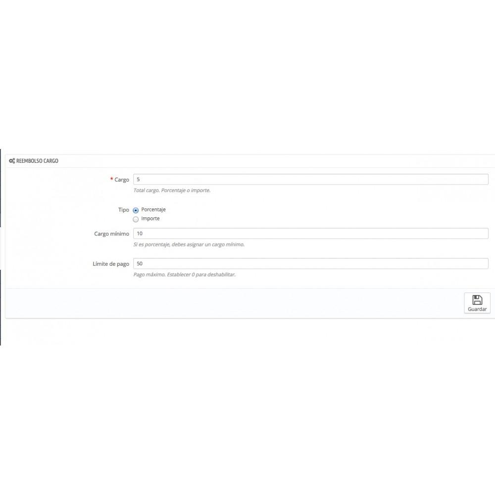 module - Pago a la Entrega (contrarrembolso) - Contra reembolso con comision y recargo - 2