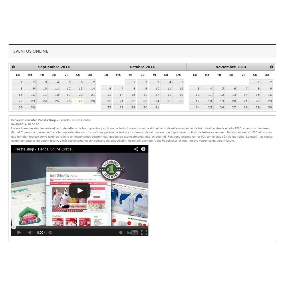 module - Blog, Foro y Noticias - Eventos Online - 5