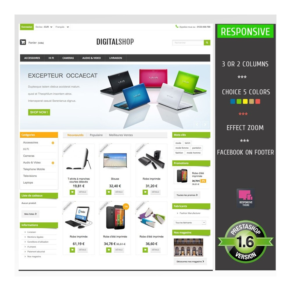 theme - Electronique & High Tech - DIGITALSHOP - 1
