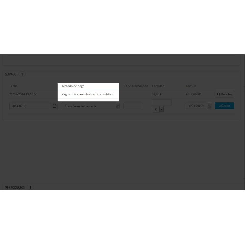 module - Betaling bij Levering - Betaling aan de deur met toeslag - 5