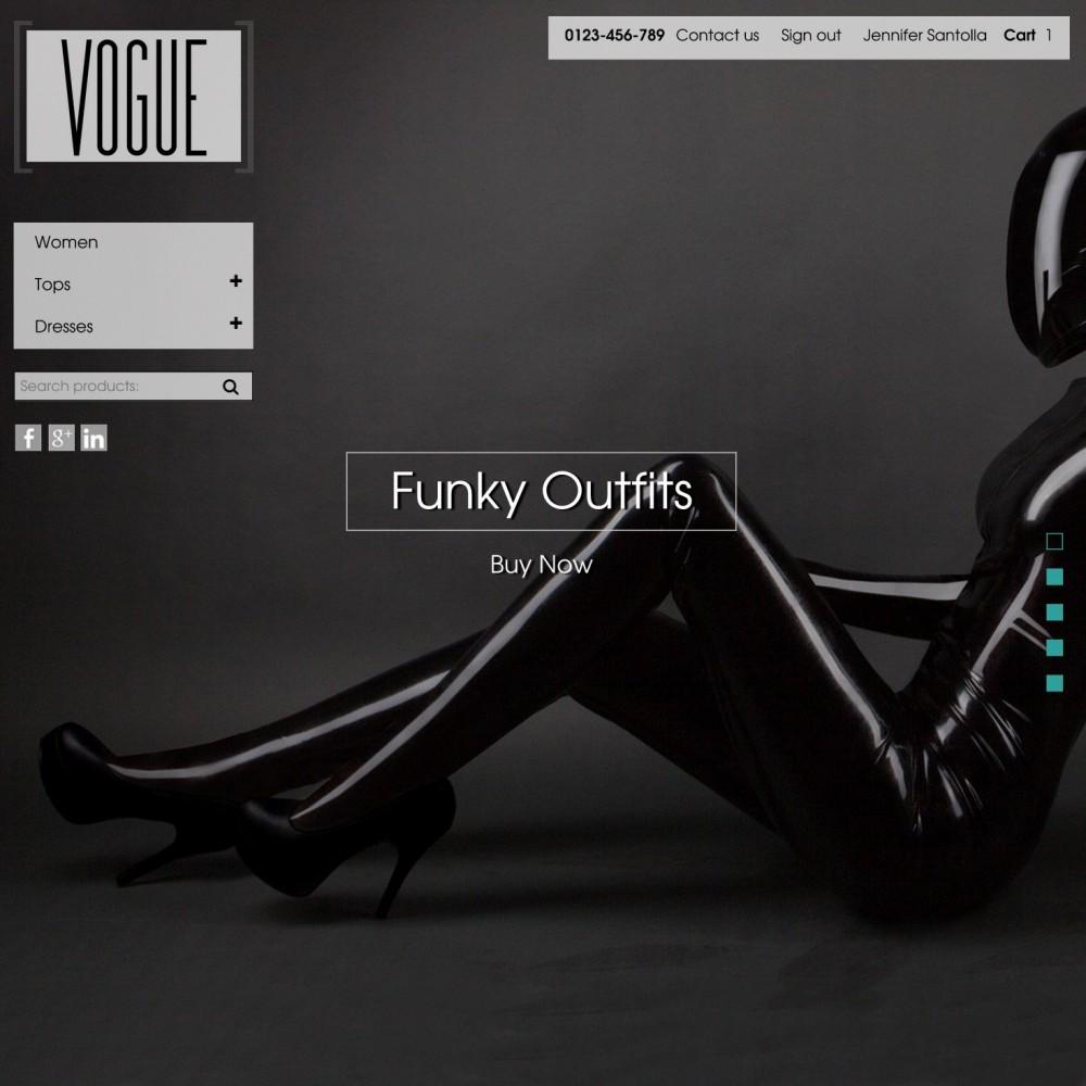 Vogue Parallax Masonry Prestashop Theme