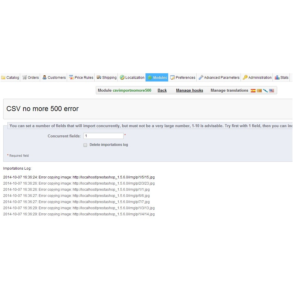 module - Import & Export de données - CSV Import no more 500 errors - 6