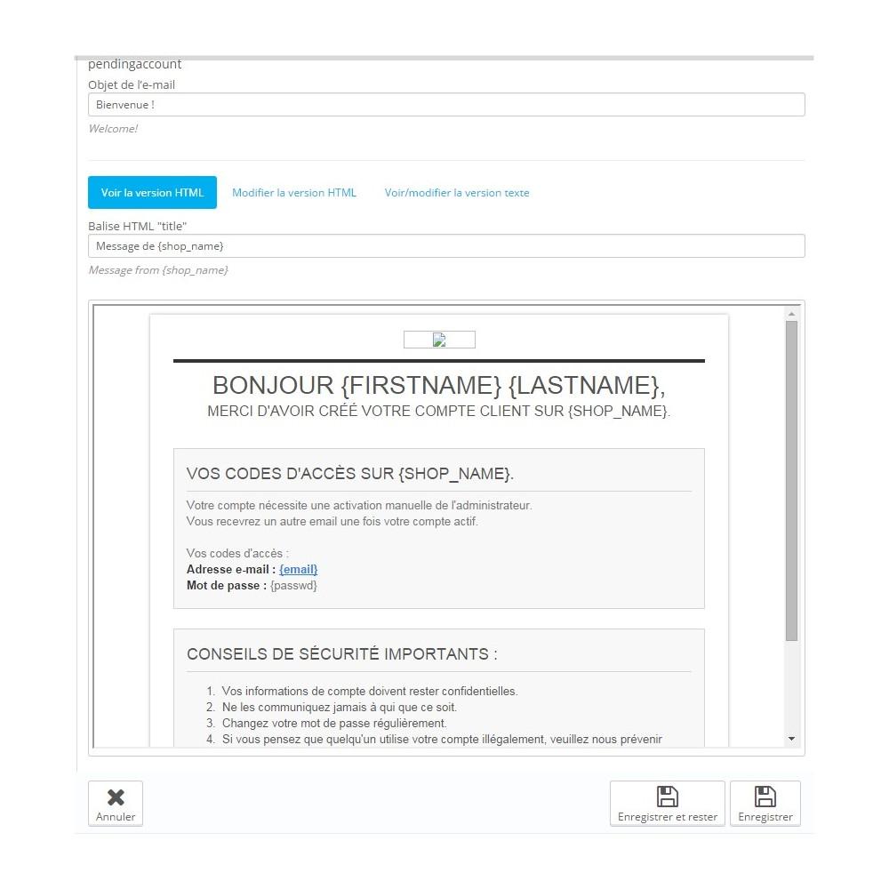 module - Gestion des clients - Customer Activation / Activation Compte Client - 3