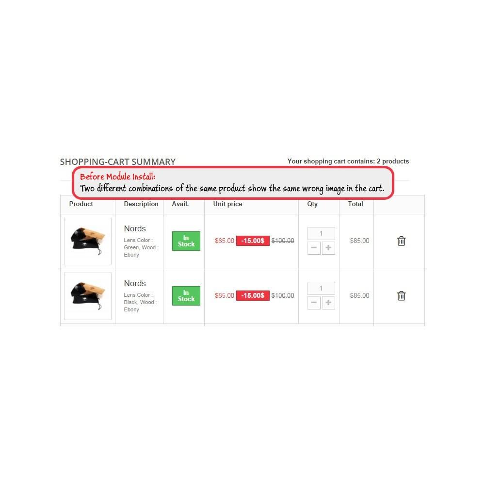 module - Versies & Personalisering van producten - Cart Image Corrector - 1