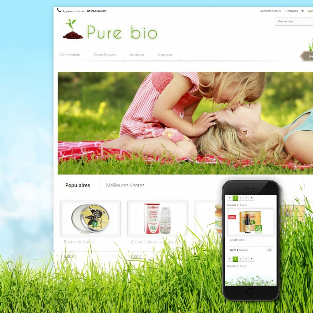 theme - Salute & Bellezza - Pure Bio - 1